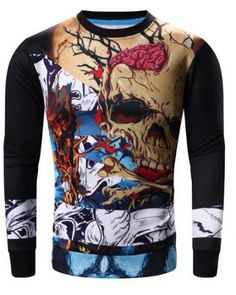 9267265206af Halloween skull t shirt for teens plus size 3D printed tshirts New Mens  Fashion