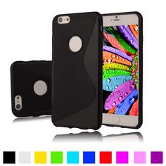 """Coque For iPhone 6s Case 4.7"""" S Line Silicone Gel Case S Shape Rubber TPU Cover For iPhone 6 Matte Soft Plastic Fundas Case"""