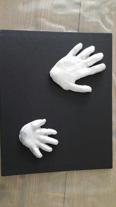 Handafdrukken gemaakt van gips.