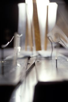 Conceptual model, aluminum, acrylic, steel wire.