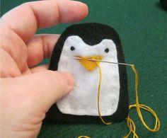 cute felt penguin tutorial