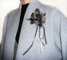 Купить Кардиган вязаный Жакет вязаный Жемчужный Кофта вязаная - серый, однотонный, кардиган вязаный
