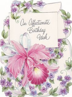 An affectionate vintage birthday wish. #vintage #birthday #cards