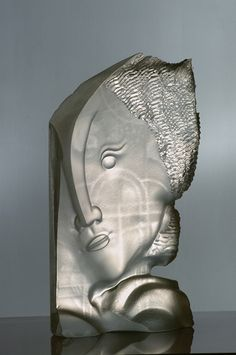 """Gilles Chabrier  (French, 1959-), """"Adamas"""" Glass Sclupture."""
