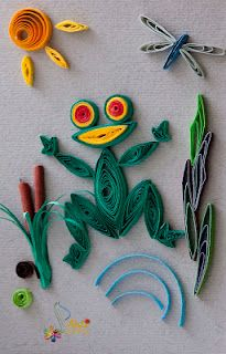 quilling-love this frog