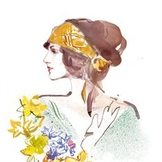 Elena Viltovskaia from Toronto. The soft brush strokes, used in a variety of ways with the coloured creating a kind of fluid illustration is what is appealing within this illustrator. As well as the strong sense of femininity with the illlustrations.