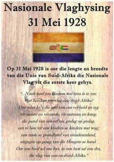 Union Of South Africa, South African Flag, Mein Land, South Afrika, Afrikaanse Quotes, Empowering Quotes, My Childhood Memories, African History, Educational Activities