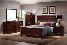 Argonne Queen 5 Piece Wooden Modern Bedroom Set affordable modern design from Baxton Studio. Oak Bedroom Furniture Sets, Wooden Bedroom, Furniture Ideas, Staging Furniture, Furniture Design, Dream Furniture, Furniture Styles, 5 Piece Bedroom Set, Bedroom Sets