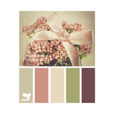 Cute color scheme-vintage, but make the plum color brown and the dusty rose a shade or two darker almost like light maroon