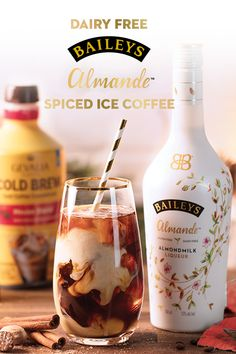 The best way to warm up this winter is by chilling out and spicing up your iced coffee with Baileys Almande. Stir yourself this drink by mixing 2 oz Baileys Almande, Gevalia Coffee Cold Brew, and oz cinnamon syrup. Holiday Drinks, Party Drinks, Summer Drinks, Cocktail Drinks, Fun Drinks, Beverages, Irish Cocktails, Liquor Drinks, Coffee Drinks