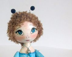 Textile Cloth Art doll Dreamboat fairy OOAK by ArtDollsByKseniya,