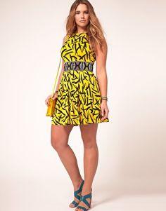 Asos Curve Skater Dress. I want