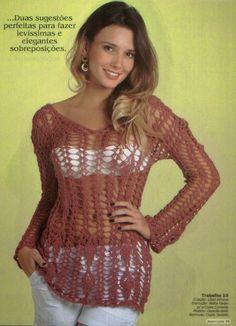 http://crochelinhasagulhas.blogspot.com/2014/07/blusa-com-ponto-abacaxi-em-croche.html