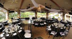 Reception Location at Coto de Caza Golf & Racquet Club/ Wedding/ Black & White Wedding/ Outdoor Reception/ Wedding