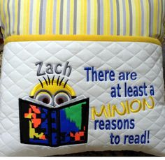 Book Pillow, Reading Pillow, Pillow Talk, Pillow Embroidery, Machine Embroidery Applique, Christmas Sewing Projects, Book Projects, Machine Embroidery Projects, Embroidery Ideas