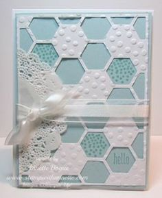 Honeycomb Hello, Hexagon Hive Framelit, Stampin' Up!, www.stampwithannette.com