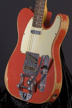 Fender Custom Shop Time Machine Telecaster Heavy Relic - Fiesta Red guitar-g.- Fender Custom Shop Time Machine Telecaster Heavy Relic – Fiesta Red guitar-g… Fender Custom Shop Time Machine Telecaster Heavy… - Fender Stratocaster, Gretsch, Fender Telecaster Mexican, Telecaster Custom, Fender Custom Shop, Custom Guitars, Unique Guitars, Vintage Electric Guitars, Vintage Guitars