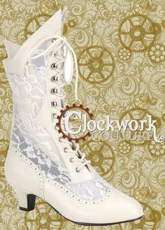 Cathedral Victorian Boot - 3 colors - Tall Boots - Ladies - Footwear - by Clockwork Couture Steampunk Boots, Style Steampunk, Steampunk Wedding, Steampunk Clothing, Steampunk Fashion, Medieval Wedding, Victorian Boots, Victorian Steampunk, Victorian Fashion