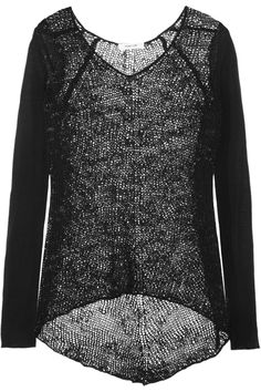open and fine-knit wool-blend sweater... helmut lang... lervly...