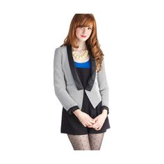 ModCloth Menswear Inspired Short Long Sleeve Guest Conductor Blazer and other apparel, accessories and trends. Browse and shop 8 related looks.