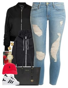 """""""Untitled #1471"""" by power-beauty ❤ liked on Polyvore featuring Topshop, H&M, Frame Denim, Vince Camuto, Michael Kors, Polo Ralph Lauren and adidas"""