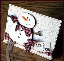 snowmen by Eerett Homemade Christmas Cards, Homemade Cards, Handmade Christmas, Christmas Crafts, Cool Cards, Diy Cards, Xmas Cards, Holiday Cards, Snowman Cards