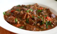 Enjoy this filling stew filled with a beautiful array of veggies, herbs, and marbled beef.