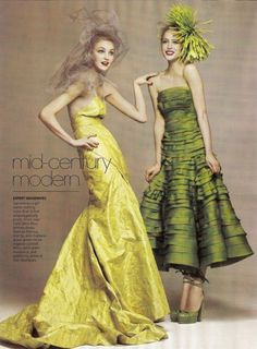 Caroline Trentini and Raquel Zimmermann by David Sims for Vogue