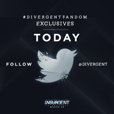 TODAY - Follow @Divergent on Twitter for exclusive looks at the cast of Insurgent ALL DAY, courtesy of some of our finest fansites! http://insur.gent/Twitter