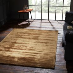 Cairo Rugs in Bronze from Trend Edit Moroccan Interiors, Perfect Rug, Plain Rugs, Yellow Rug, Shabby Chic Interiors, Rugs, Beautiful Rug, Living Room Inspiration, Gold Rug