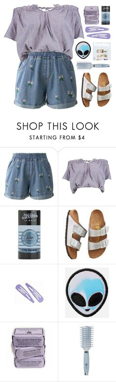 """outta this world"" by amazing-abby ❤ liked on Polyvore featuring Chicwish, Boohoo, Jean-Paul Gaultier, Birkenstock, Stoney Clover Lane and Goody"