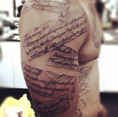Mens bible verse tattoos on ribs proverbs 3 5 6 trust in for Bible verse tattoos on arm