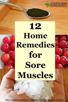 12 Home Remedies for Sore Muscles - What causes sore muscles, muscle cramps, strains and sprains. Natural muscle pain relief, natural muscle relaxers.: