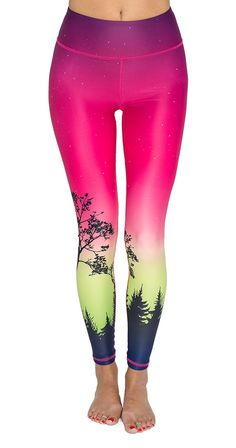 Aurora Leggings Non sheer performance legging Rise holds everything in Moisture Wicking Custom original artwork Inseam approx (unstretched) Polyester, Elastane SI Exclusive Silver Icing, Best Leggings, Pink Leggings, Athletic Gear, Good Stretches, Sport Fashion, Womens Fashion, Fashion Company, Style Me