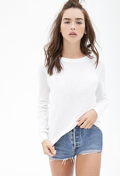 so the model is wearing this outfit w oxfords and knee socks and her hair is just... i love this (sweater, in black)