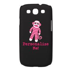 Customizable Pink Sock Monkey Galaxy S3 Case $24.50