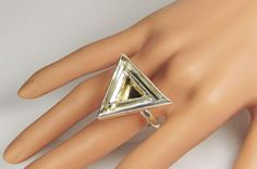 Sterling silver and brass kinetic ring by RadiantOriginals on Etsy, $48.00
