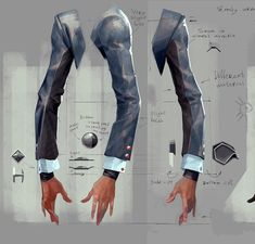 """Fashion Designer Maya Hansen Talks Her Dishonored 2 Designs """"As fashion designers, we can contribute our own point of view to support the development of the videogame story. Digital Painting Tutorials, Digital Art Tutorial, Art Tutorials, Design Reference, Drawing Reference, Dishonored 2, Drawing Studies, Poses References, Drawing Clothes"""
