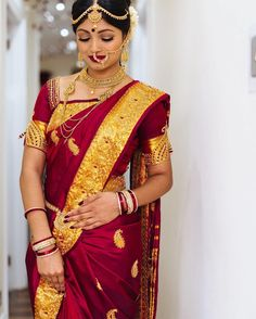 How stunning is Barkavi in her own customised saree. Photo by and Make up by Saree and blouse by # Indian Fashion, Traditional Outfits, Saree, South Indian Bride, Bridal Outfits, Indian Bridal Outfits, Bridal Wear, Fashion, Silk Saree Banarasi