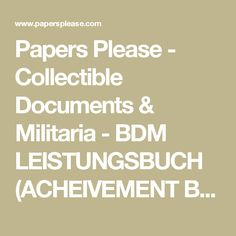 Papers Please - Collectible Documents & Militaria - BDM LEISTUNGSBUCH (ACHEIVEMENT BOOK) for 10 YEAR OLD GIRL (1939)
