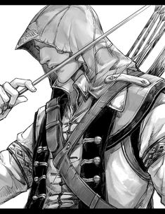 Connor with his arrow All Assassins, Assassins Creed Series, Assasins Cred, Assassin's Creed Videos, Assassin's Creed Hidden Blade, Cry Of Fear, Assassin's Creed I, Connor Kenway, Anime Guys