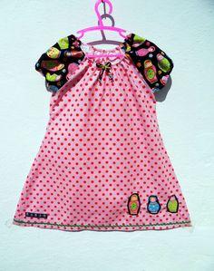 MädchenKleid Tunika Bluse Punkte Matroschka Gr. 110 116 bunt