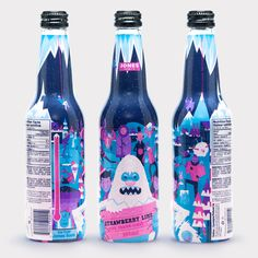 Limited edition Jones Soda Co. winter packaging || Super Big Creative #illustration