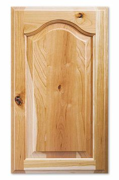 Our Liberty style cabinet features a beautiful, handcrafted arched raised panel that adds a hint of simple elegance to any room. Cabinet door shown in Rustic Cherry. Cabinet door stile is 2 and rail is 2 Minimum width is 8 and minimum height is 9 Alder Cabinets, Maple Cabinets, Diy Cabinets, Custom Cabinets, Bathroom Cabinets, Cupboards, Kitchen Cabinet Door Styles, Outdoor Kitchen Cabinets, Cabinet Styles
