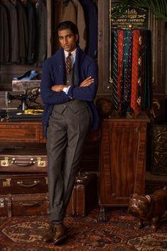 Polo Ralph Lauren, Ralph Lauren Style, Ralph Lauren Collection, Men's Collection, Dapper Gentleman, Gentleman Style, Vogue Paris, Tartan Men, Outfit Man