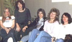 The best iteration of Yes (from left to right) - Rick Wakeman, Chris Squire, Steeve Howe, Bill Bruford & Jon Anderson