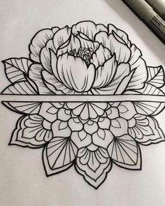 New Floral Mandala Tattoo Sleeve Patterns 62 Ideas Tatuaje Mandala Floral, Floral Mandala Tattoo, Mandala Tattoo Sleeve Women, Peacock Tattoo, Hai Tattoos, Body Art Tattoos, Tattoos Pics, Henna Tattoos, Tattoos Gallery