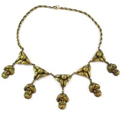 Joseff of Hollywood turban head pendants necklace c.1940 www.harlequinmarket.com #harlequinmarket