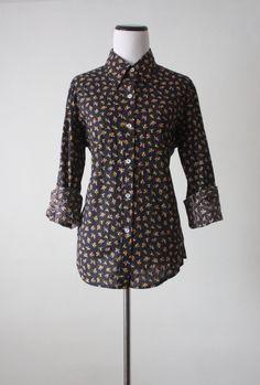 1970's floral blouse
