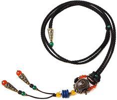 Amazon.com: LZJN Wood Pendant Necklace Wood Jewelry for Women (Dzi beads 02060046): Clothing Jewelry Necklaces, Beaded Necklace, Pendant Necklace, Tai Chi Clothing, Women Jewelry, Amazon, Beads, Wood, Fashion